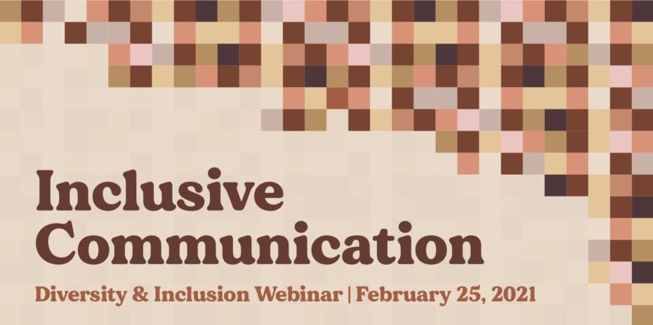Inclusive Communication Webinar